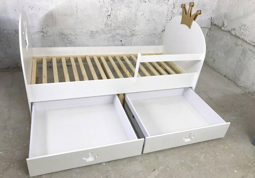кровать корона с ящиками
