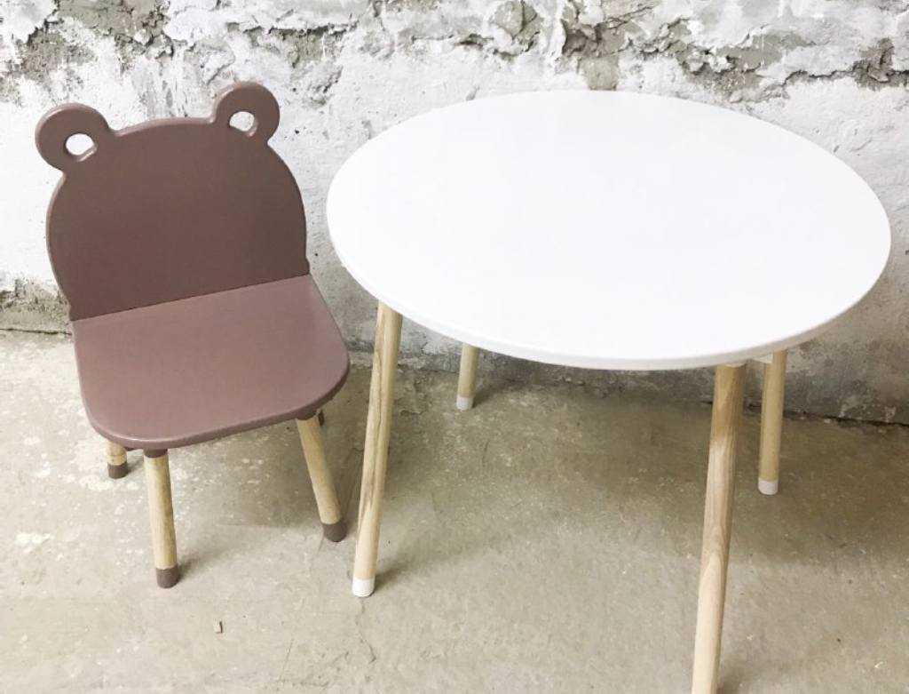круглый детский столик без ниши
