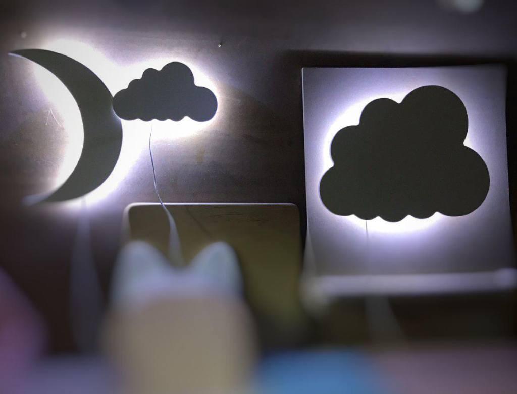 ночники в детскую облако месяц
