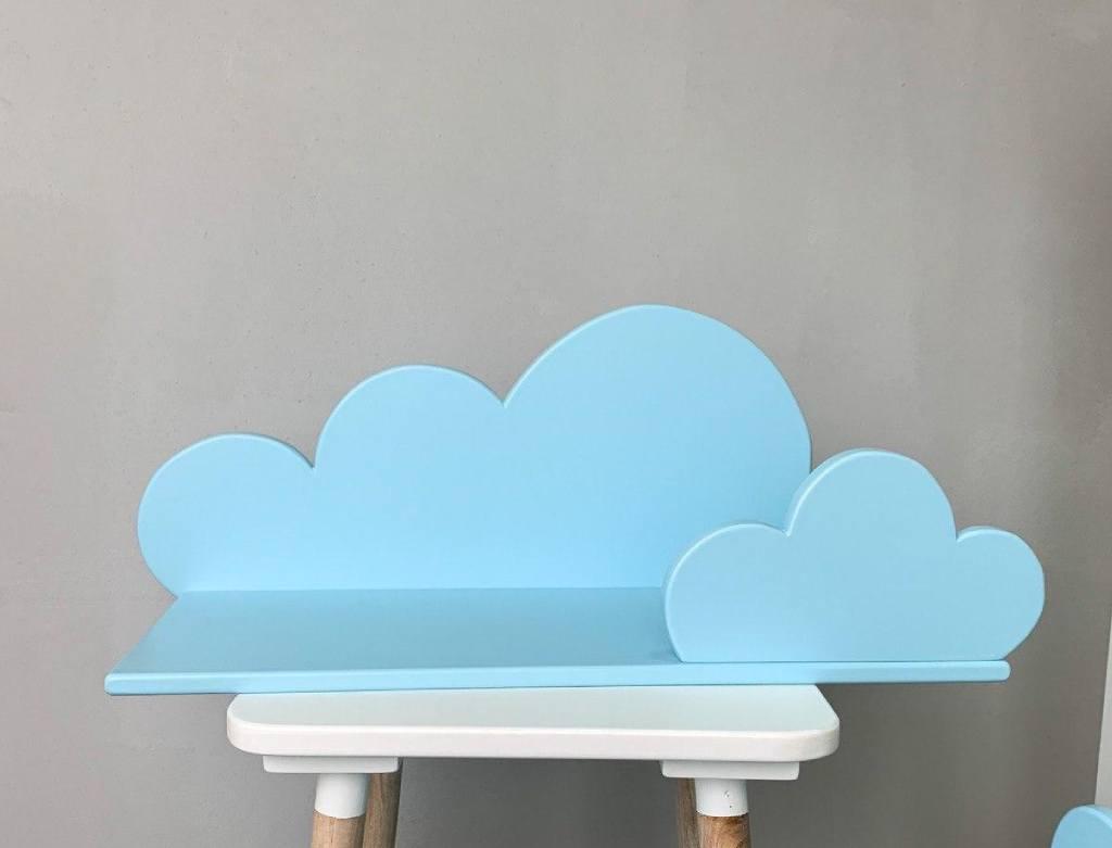 детская полка облако голубое
