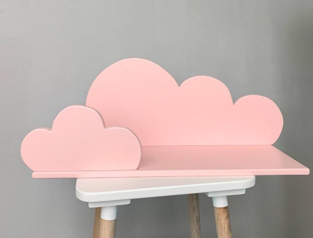 детская полка облако розовое