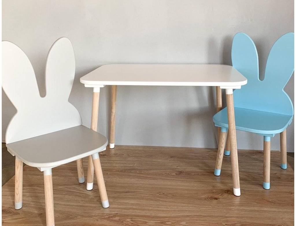 прямоугольный детский столик без ниши