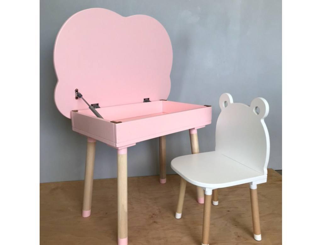 розовый столик с нишей облако