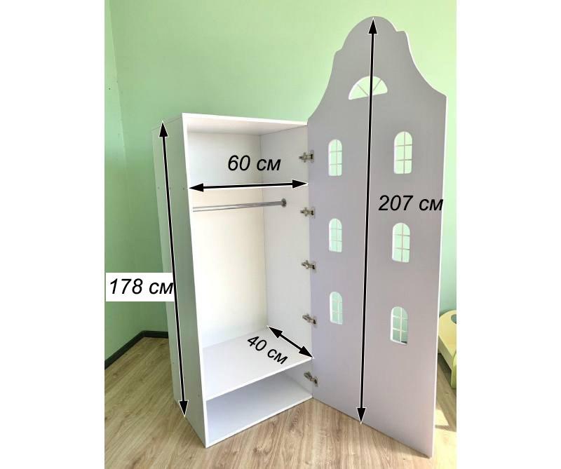 шккаф домик с окнами схема