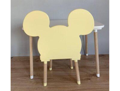 стульчик детский микки маус желтый