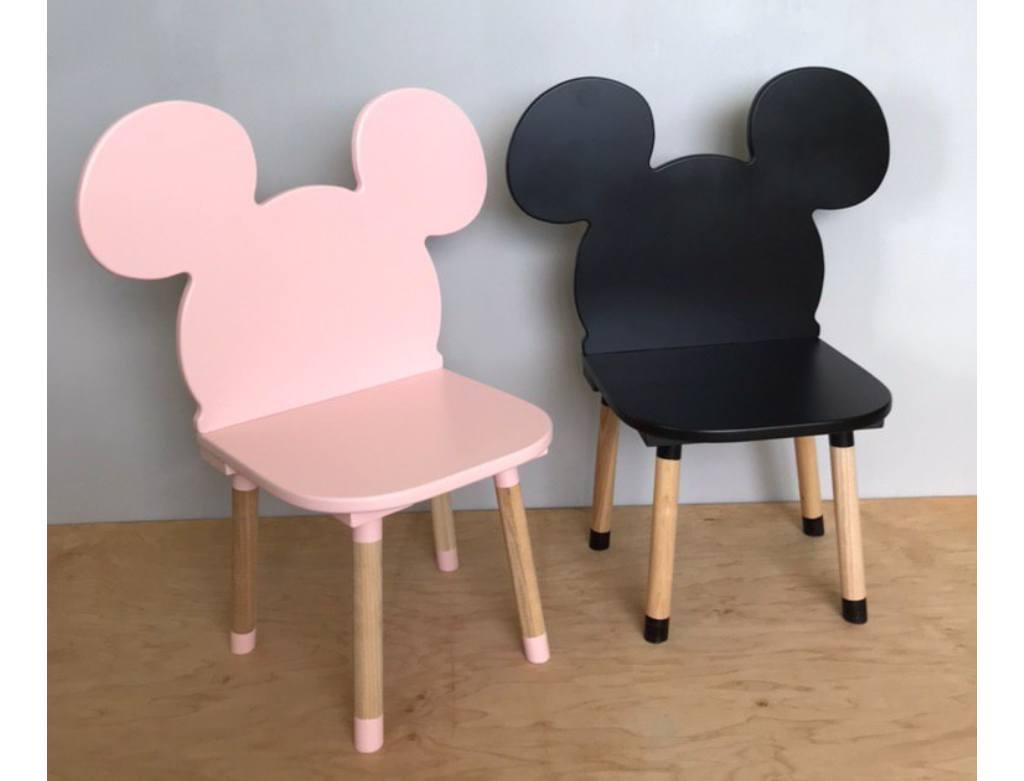 стульчик детский микки маус черный розовый