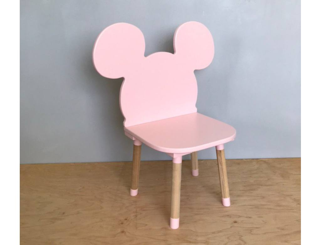 стульчик детский микки маус розовый