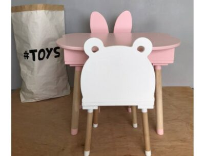 стульчик мишка детский сзади