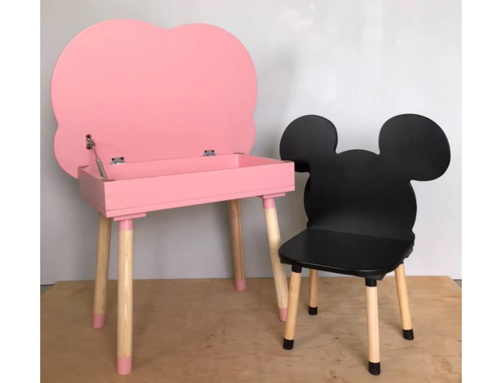 розовый столик с подьемным механизмом