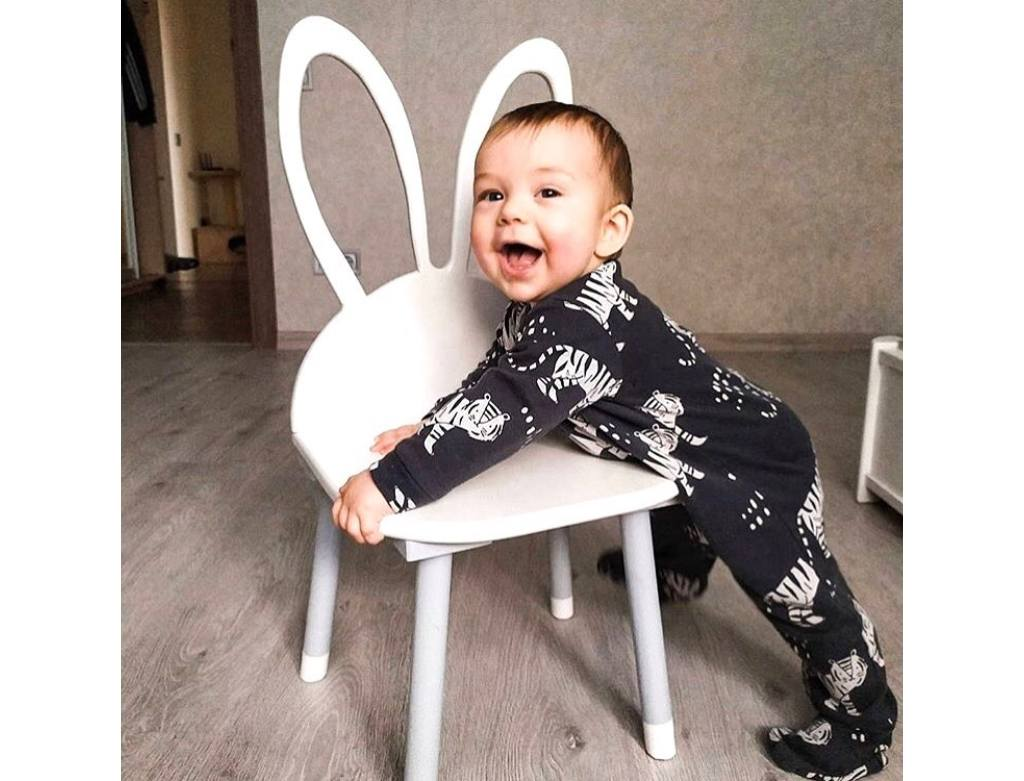 стульчик детский зайка с отверстиями в ушках