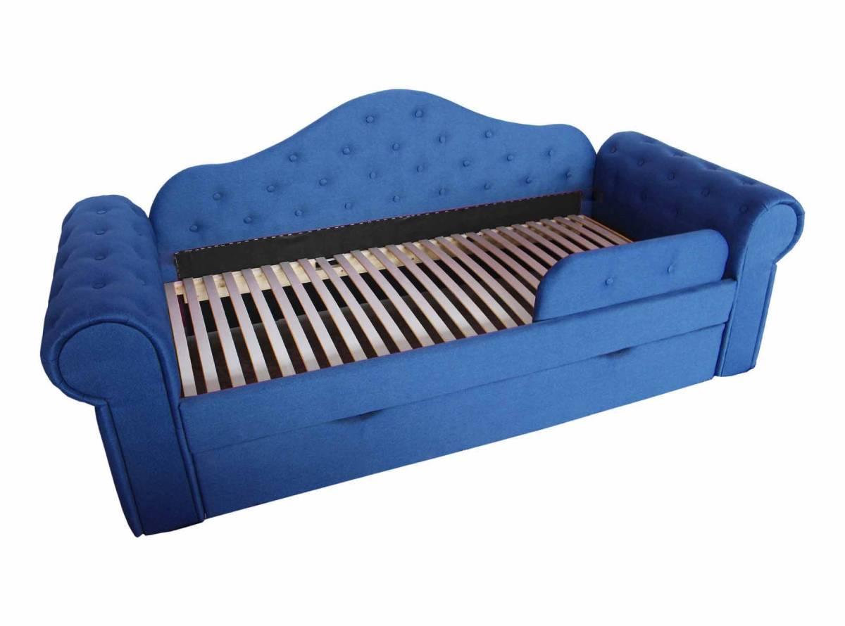 детская кровать мелани голубая