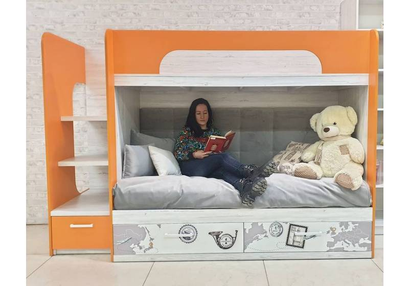 двухярусная детская кровать аляска