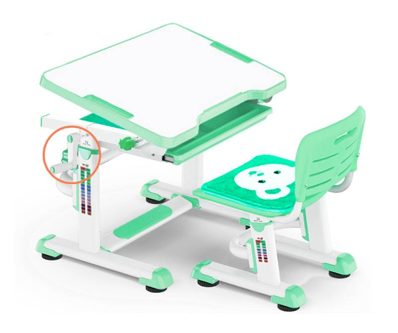 комплект парта и стул BD-08-green
