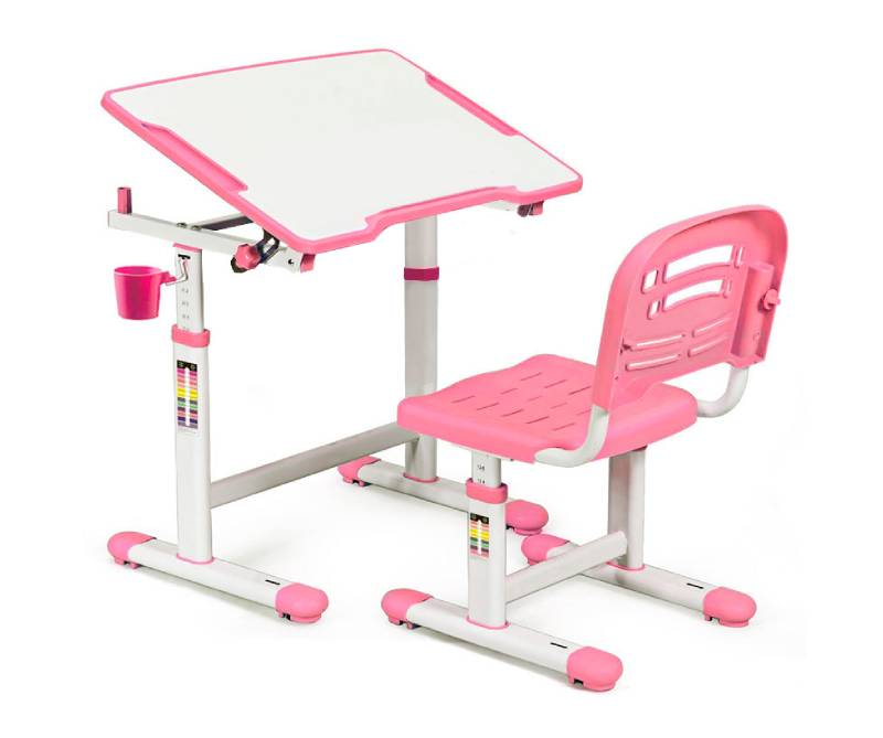 комплект парта стул Evo-07 Pink