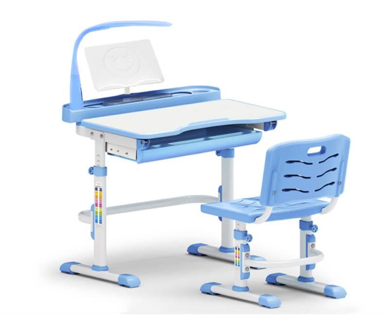Парта и стул Evo-18-BL с лампой схема