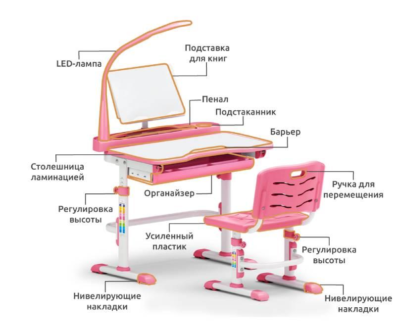 Парта и стул Evo-18-схема