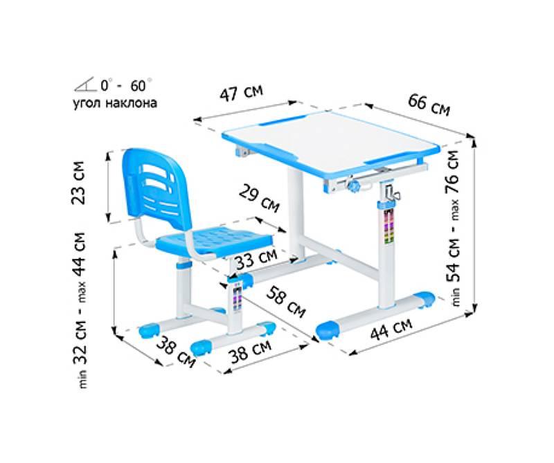 комплект парта стул Evo-07 схема