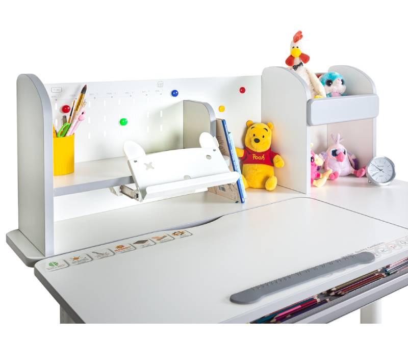 Детский стол Mealux Vancouver BD-620 W-G полочка