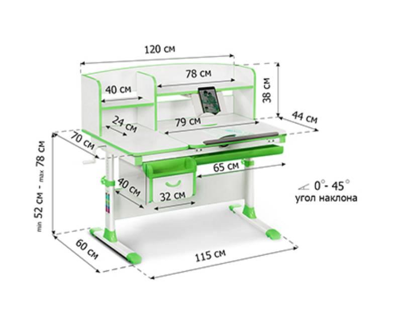 схема стола с надстройкой