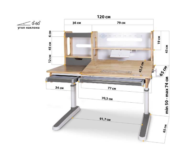 Mealux Oxford схема стола