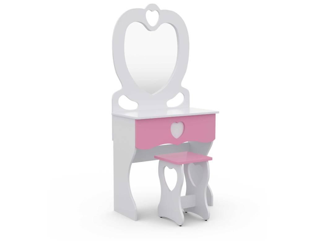 детский комплект трюмо и стульчик для девочки