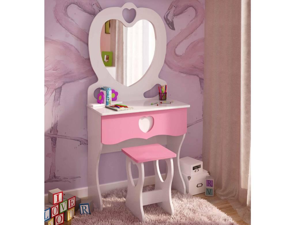 детский комплект трюмо и стульчик для девочки принцесса