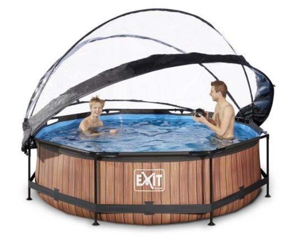 круглый бассейн 300х76 см дерево