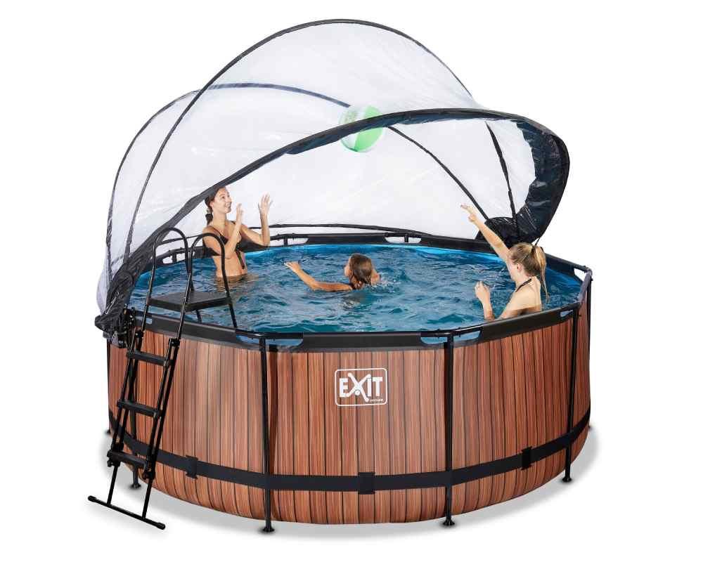 круглый бассейн 360х122 см с тентом