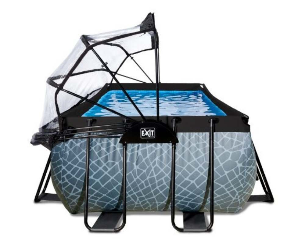 прямоугольный бассейн 400x200x100 см с накрытием