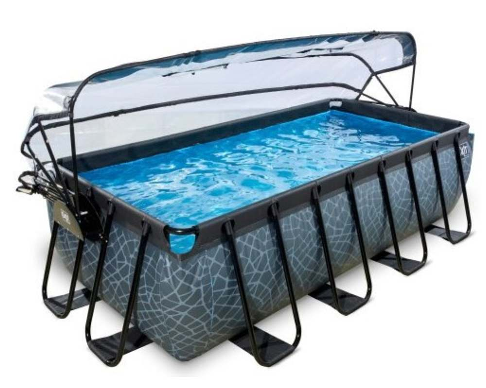прямоугольный бассейн 400x200x100 см с куполом