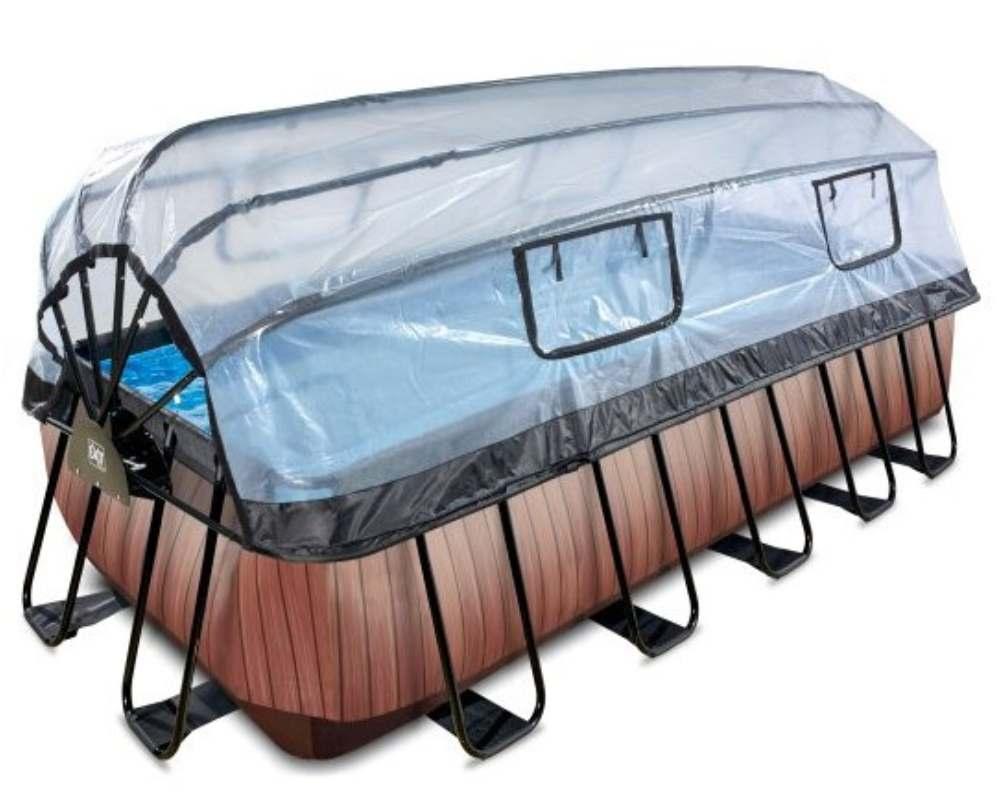 прямоугольный бассейн 540x250x122 см с окошками