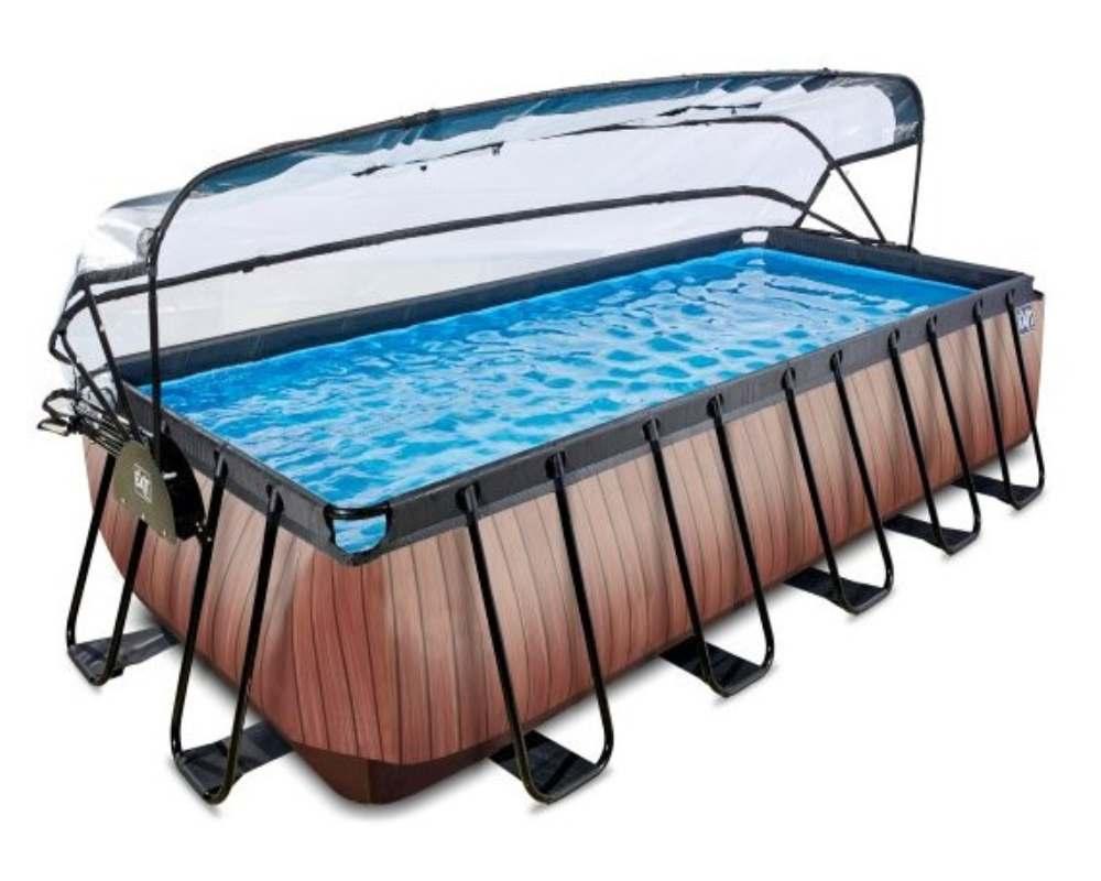 прямоугольный бассейн 540x250x122 см с тентом