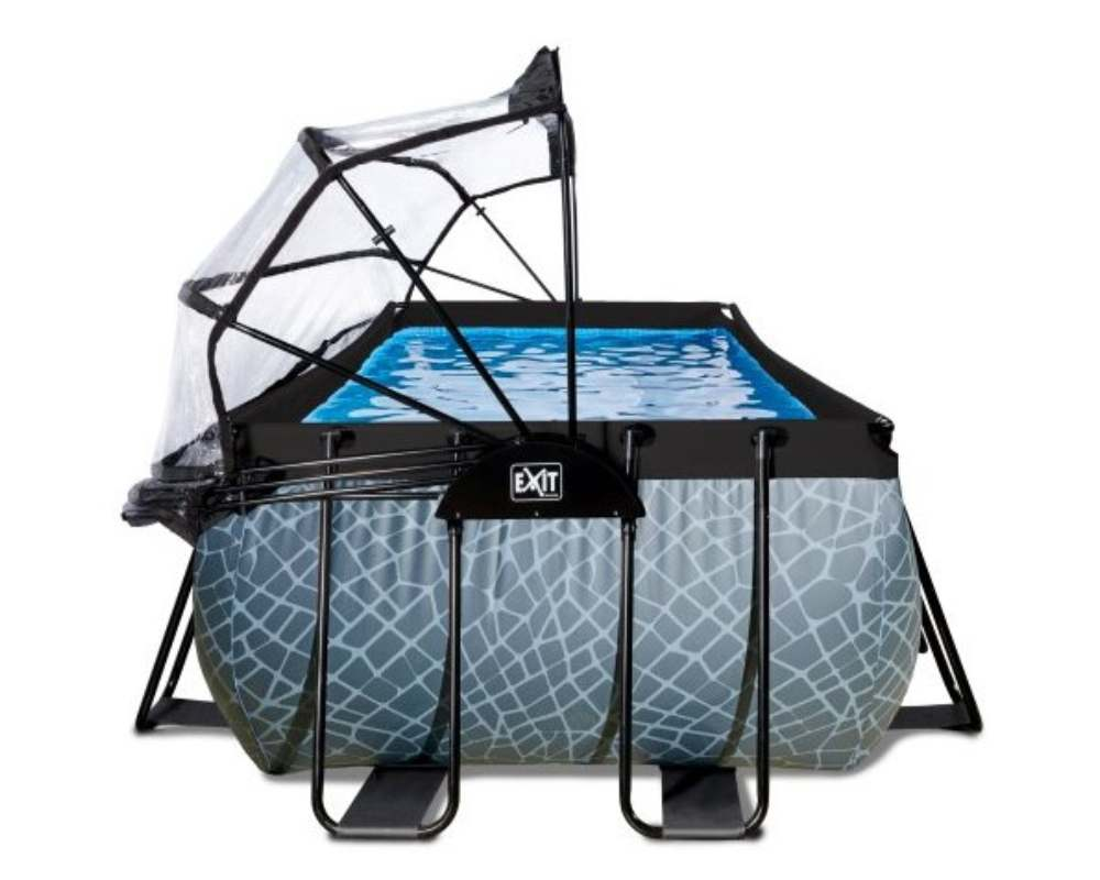 прямоугольный бассейн 540x250x122 см сбоку