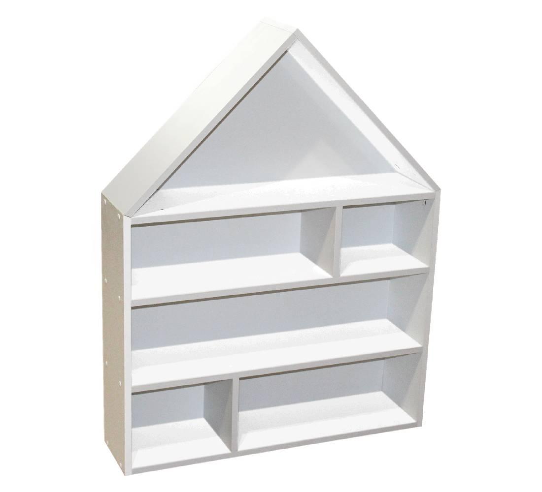домик стеллаж с белым фоном для игрушек