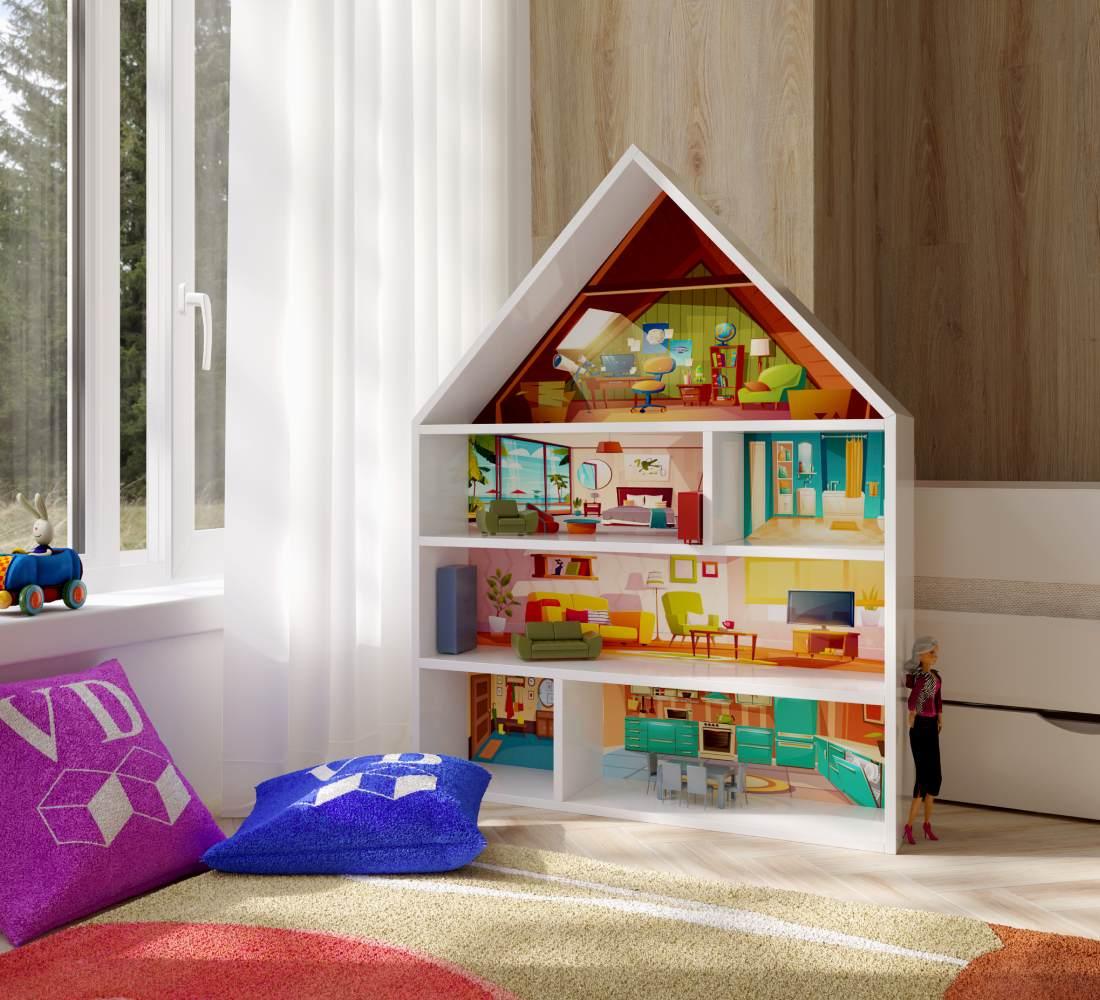 домик стеллаж в детской