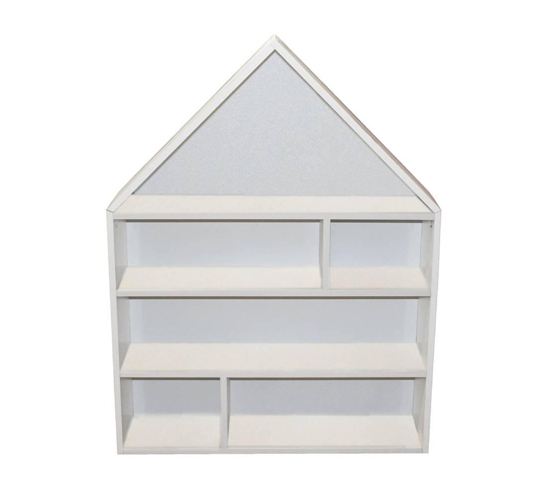 домик стеллаж с белым фоном