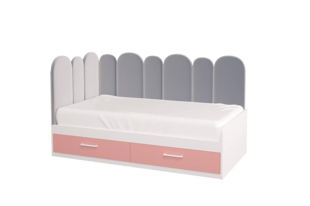 подростковая кровать холидей розовая