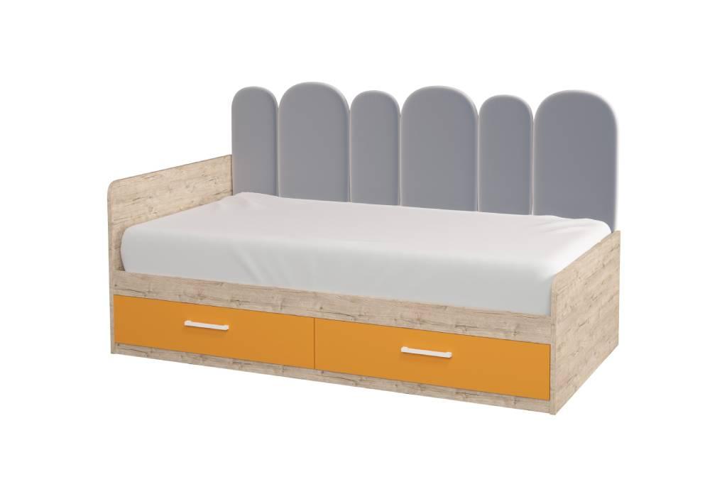 подростковая кровать софи с мягкой спинкой шервуд