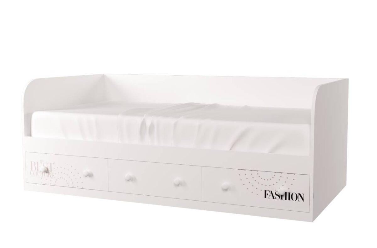 кровать с 3 ящиками fashion белый