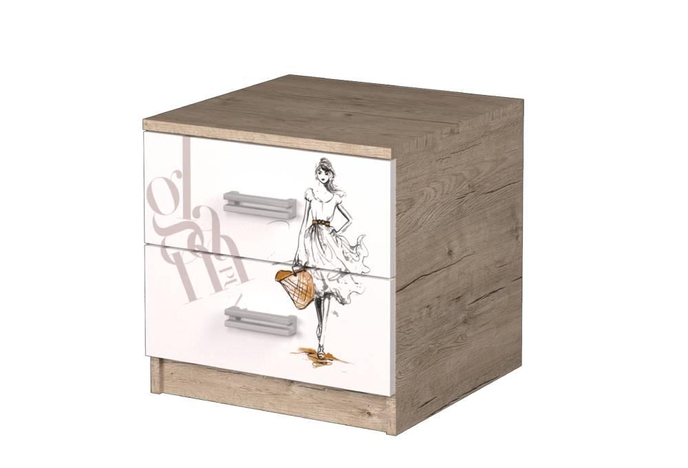 прикроватная тумбочка шервуд с рисунком