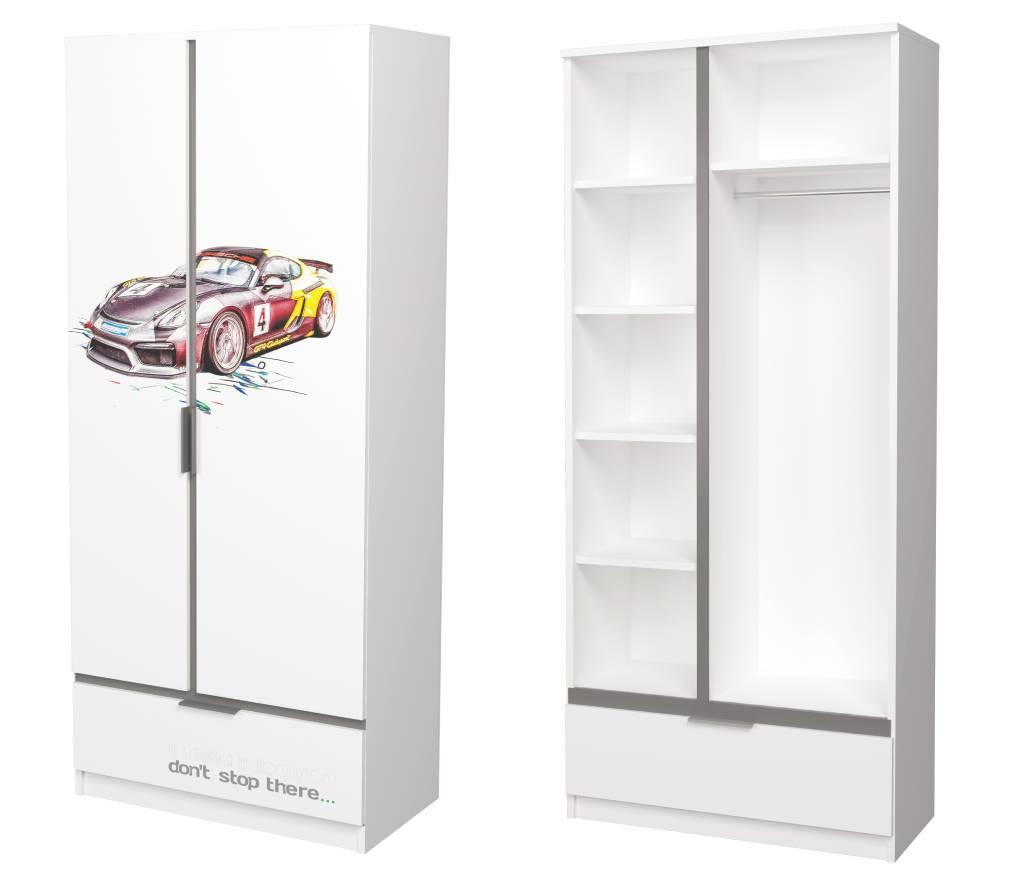 детский комбинированный шкаф авто