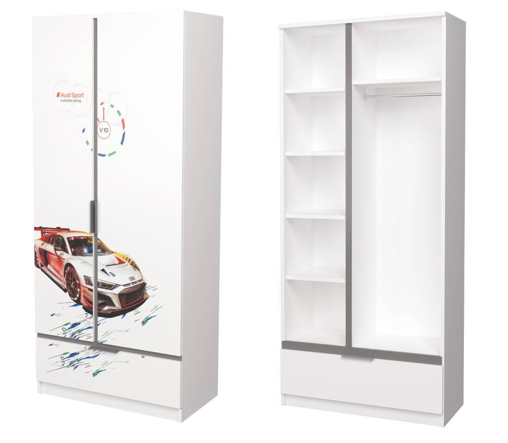детский комбинированный шкаф авто турбо