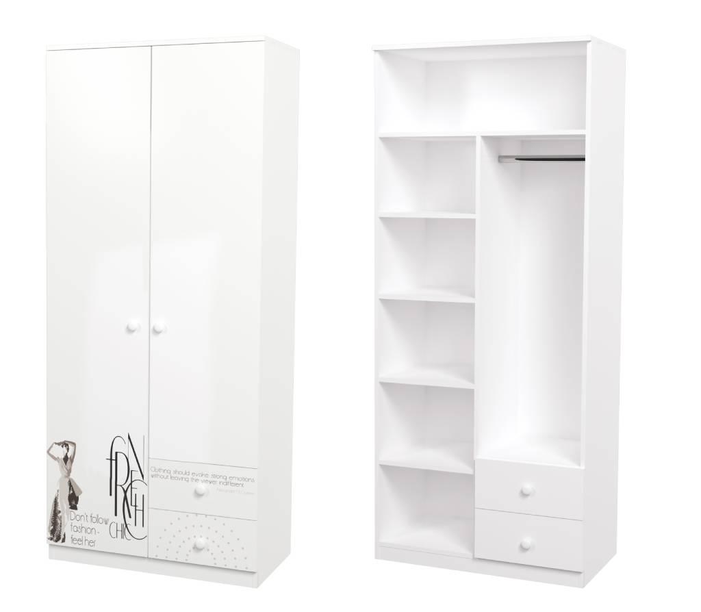 шкаф в детскую vogue комбинированный с ящиками