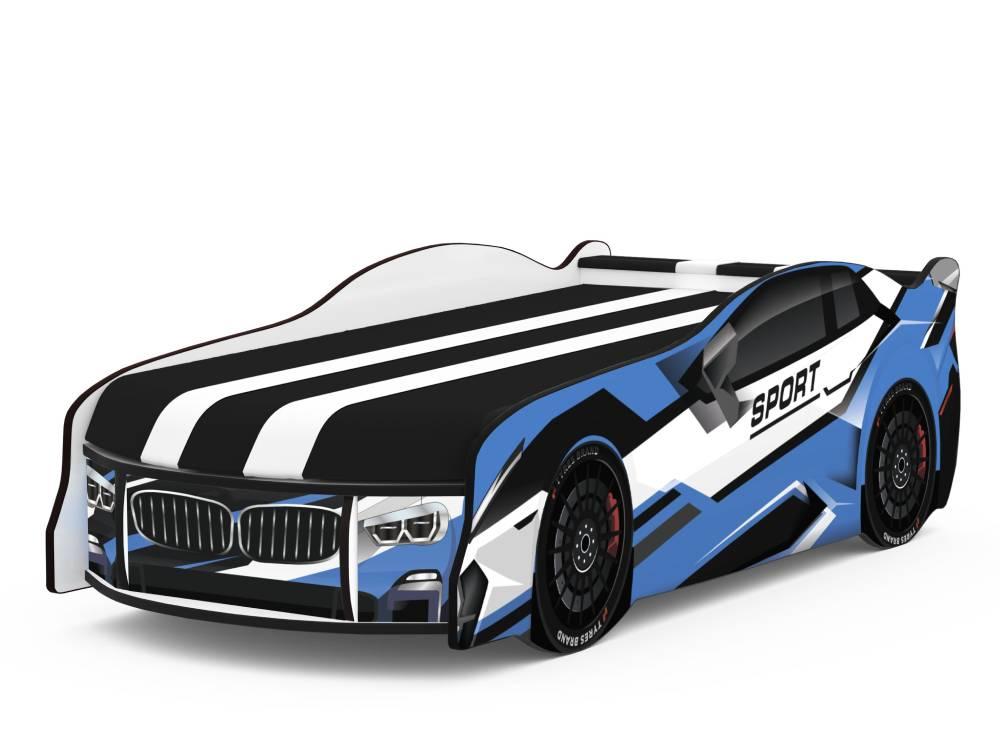 кровать машина спорт космос голубая