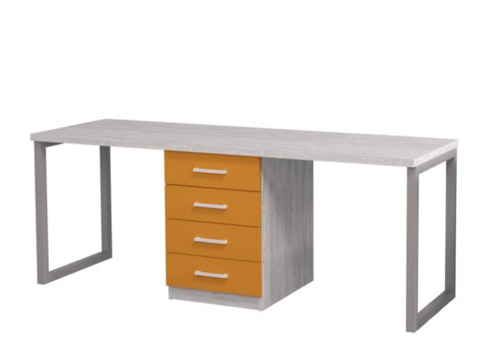 письменный стол аляска для двоих детей