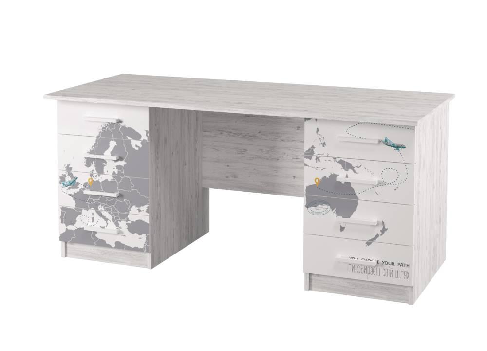 письменный стол на 2 тумбы карта мира аляска