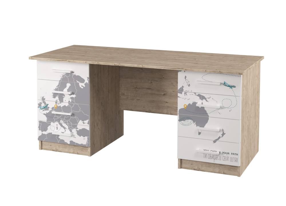 письменный стол на 2 тумбы карта мира