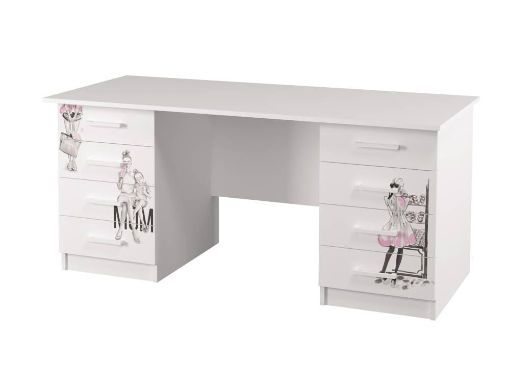 письменный стол на 2 тумбы vogue с рисунком