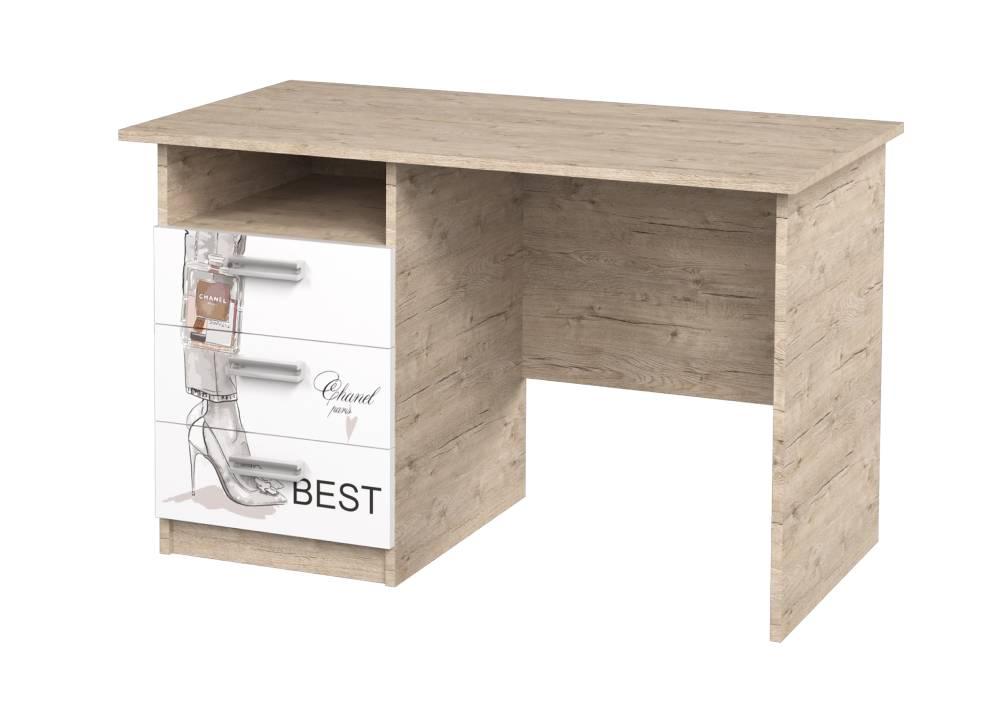 письменный стол с 3 ящиками vogue шервуд с полочкой