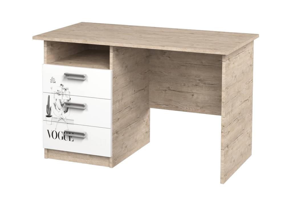 письменный стол с 3 ящиками vogue шервуд с рисунком